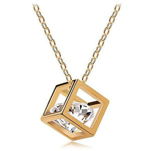 Necklace Jewelry Crystal Cube Necklace - Crystal Cube Necklace