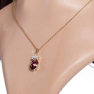 Necklace Jewelry Elegant Gold Plated Cubic Zirconia Necklace - Elegant Gold Plated Cubic Zirconia Necklace