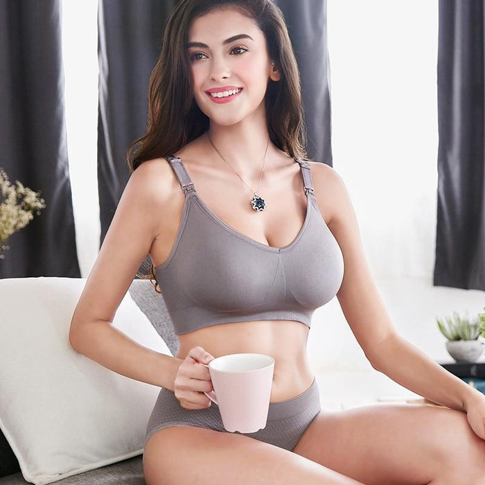 Maternity Feeding Nursing Bra With Adjustable Strap-Boots N Bags Heaven