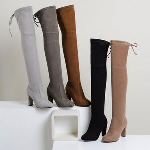 Over The Knee - High Heel Over The Knee Winter Boots