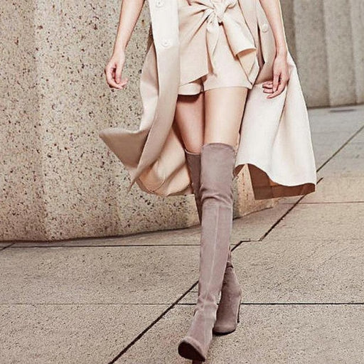 High Heel Over The Knee Winter Boots-Boots N Bags Heaven