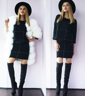 Over The Knee - Sexy Square Heel Over The Knee Boots