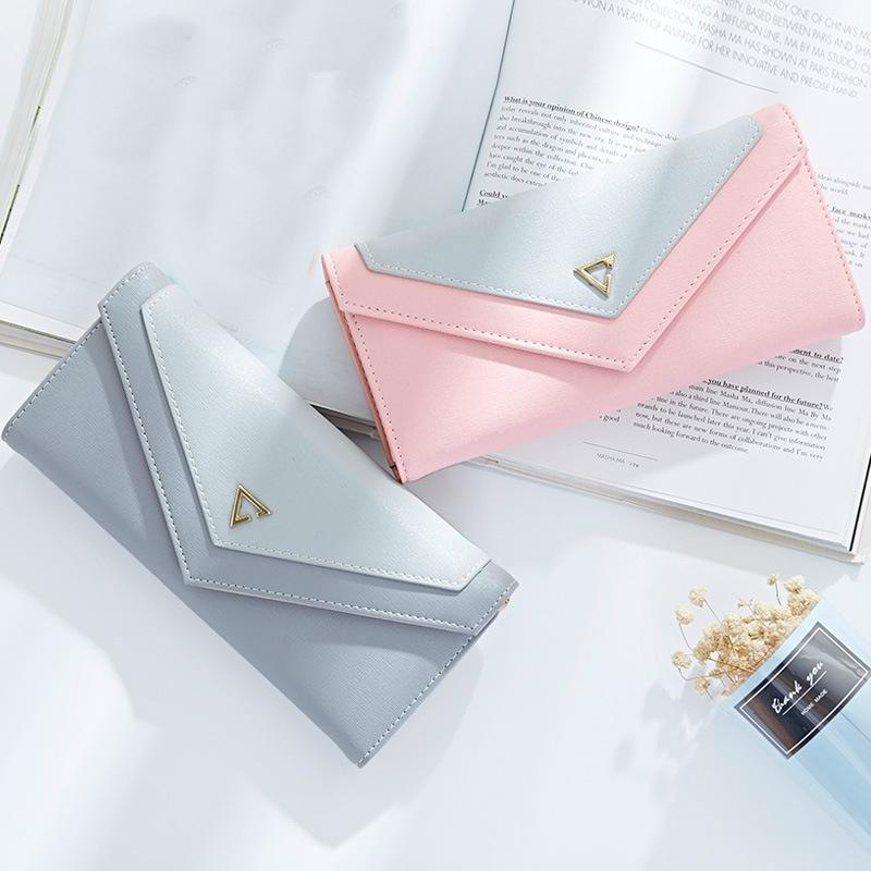 Pastel Geometric Envelope Wallet and Card Holder-Boots N Bags Heaven