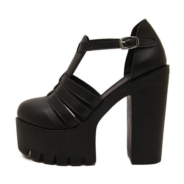 High Casual Platform Sandals-Boots N Bags Heaven