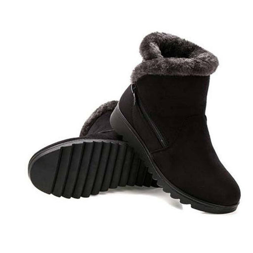 Winter Queen Ankle Plush Boots-Boots N Bags Heaven