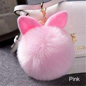 Pompoms - Fluffy Pompom Keychain For Bags