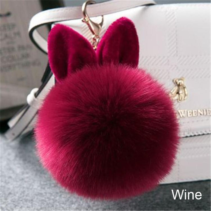 Fluffy Pompom Keychain For Bags-Boots N Bags Heaven