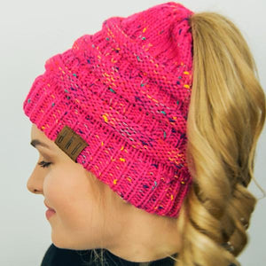 Ponytail Messy Bun Beanie Knitted Winter Hat - BNB Heaven Beanietail - Ponytail Messy Bun Beanie Knitted Winter Hat - BNB Heaven Beanietail