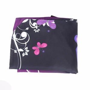 Printed Bags - Foldable Purple Butterfly Tote Bag