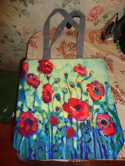 Printed Canvas Tote Bag-Boots N Bags Heaven