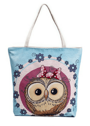 Printed Bags - Printed Owls Canvas Tote Bag