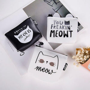 Purrfect Cat Addict Coin Purse - Purrfect Cat Addict Coin Purse