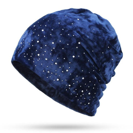 Rhinestone Soft Diamond Winter Slouchy Beanie-Boots N Bags Heaven