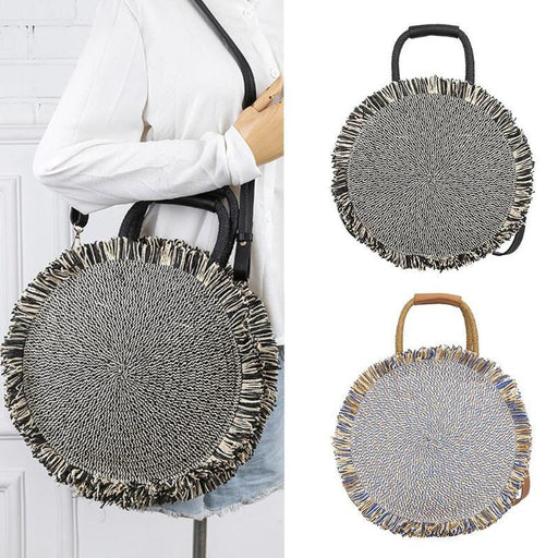 Round Tassel Large Tote Bag - Round Tassel Large Tote Bag