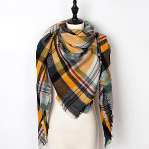 Scarf Winter Plaid Triangle Winter Scarf - Plaid Triangle Winter Scarf