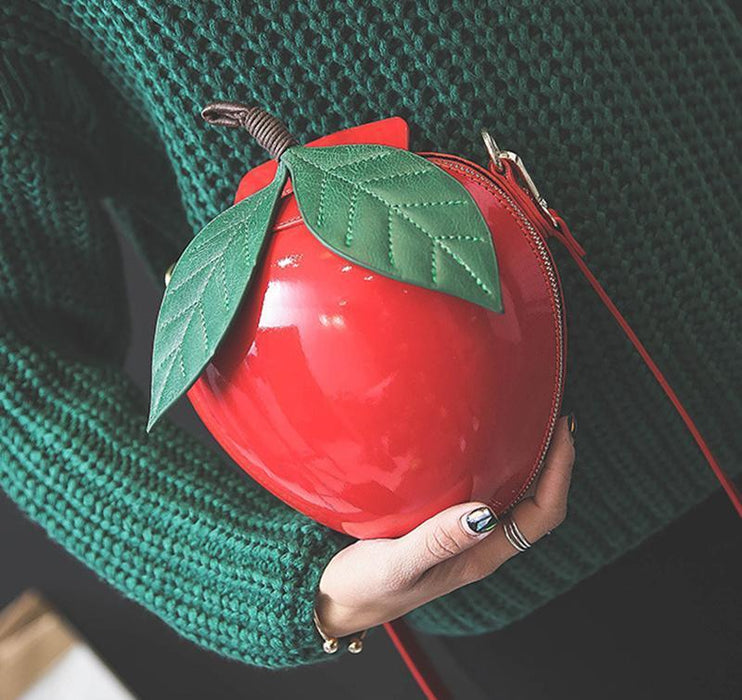 Red Apple Purse- Apple Shaped Purse-Boots N Bags Heaven
