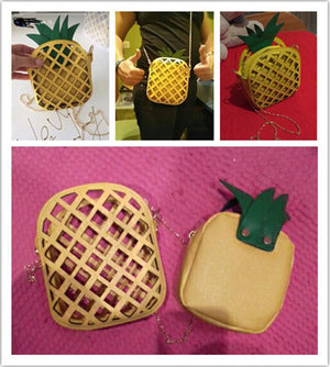 Shaped Bags - Pineapple Shaped Handbag