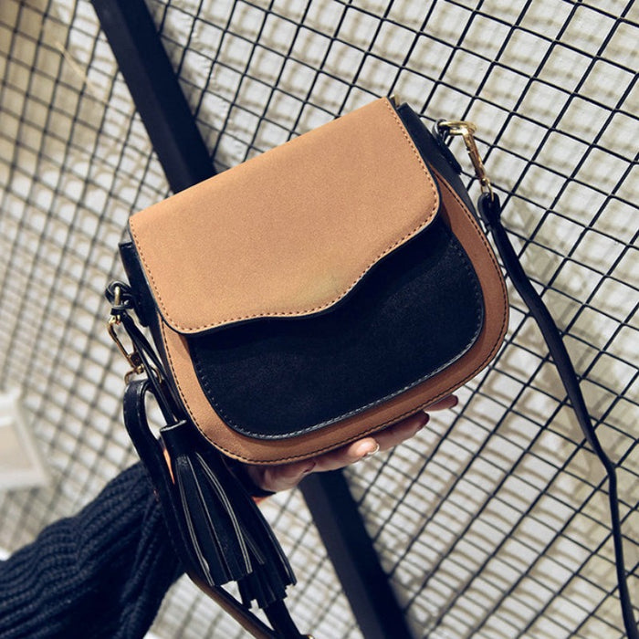 Simple and Retro Handbag with Tassel-Boots N Bags Heaven