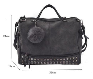 Shoulder Bags - Nubuck Leather Messenger Bag