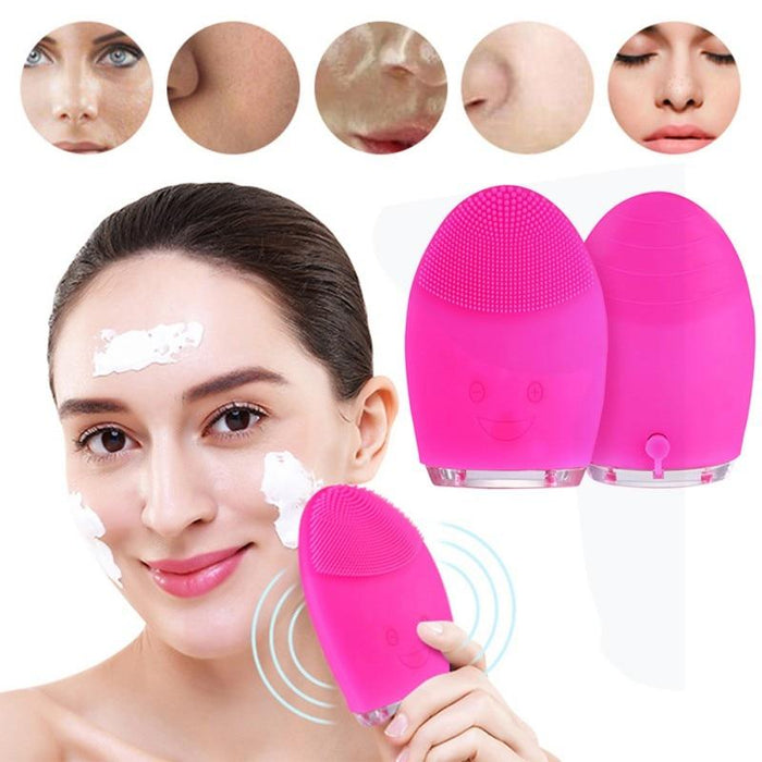 Electric Silicon Brush Facial Cleanser and Massager-Boots N Bags Heaven