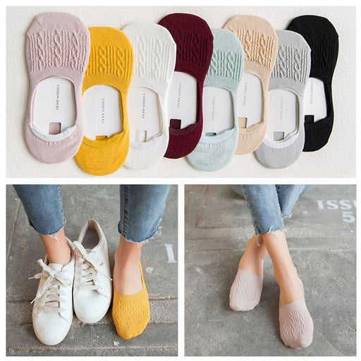 Socks Breathable And Comfortable Non-slip Low Cut Ped Socks - Exclusive Bundles - Breathable And Comfortable Non-slip Low Cut Ped Socks - Exclusive Bundles