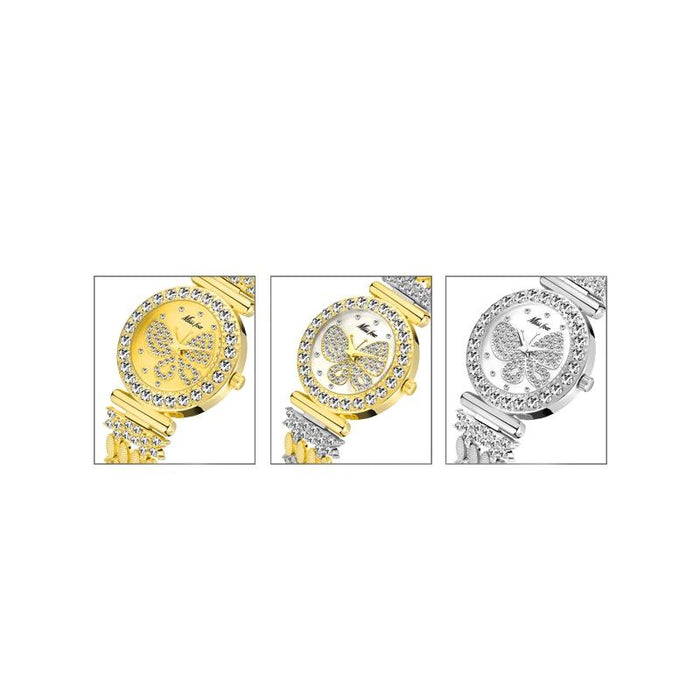 Sparkling Butterfly Quartz Wrist Watch - Sparkling Butterfly Quartz Wrist Watch