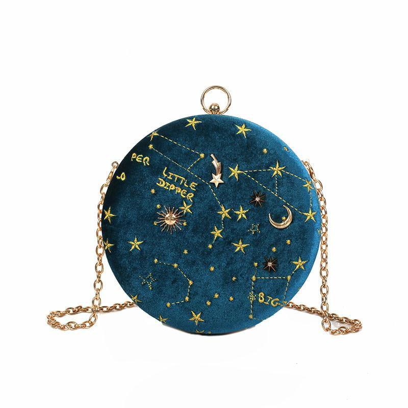 Starry Sky Constellation Circular Cross body Bag-Boots N Bags Heaven
