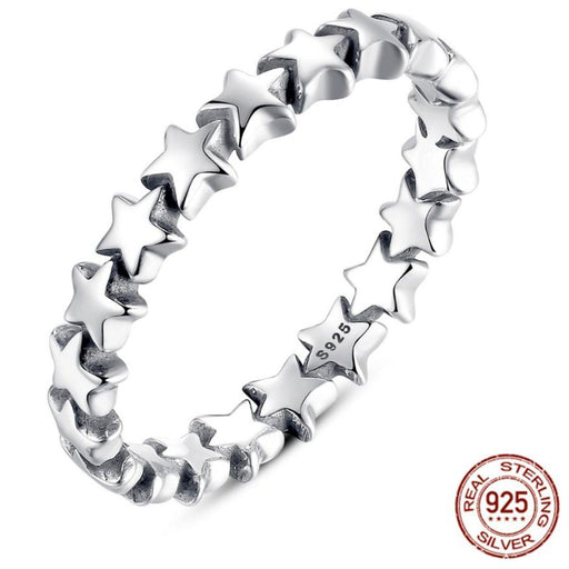 Stunning Sterling Silver Shooting Stars Ring - Chic Sterling Silver Shooting Stars Ring