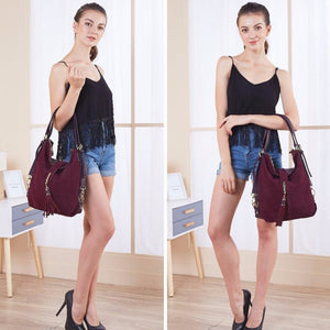 Suede Leather Fashion Bag - Suede Leather Fashion Bag