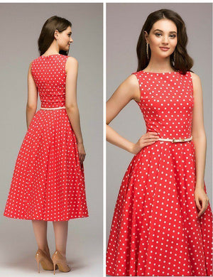 Summer Dress Elegant - Evie™ - Vintage Dots Dress