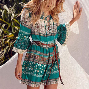Summer Dress - Iris Short™ - Short Boho Summer Dress