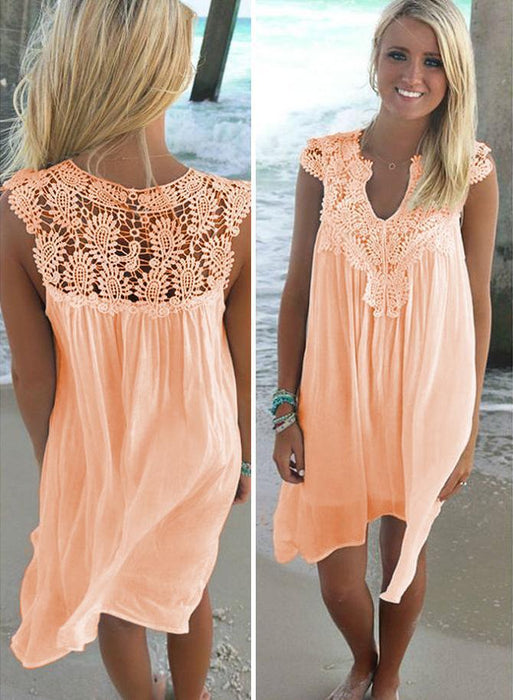 Naomi™ - Lace Beach Tunic Summer Dresses- Beach Dresses- Plus Size Beach  Dresses