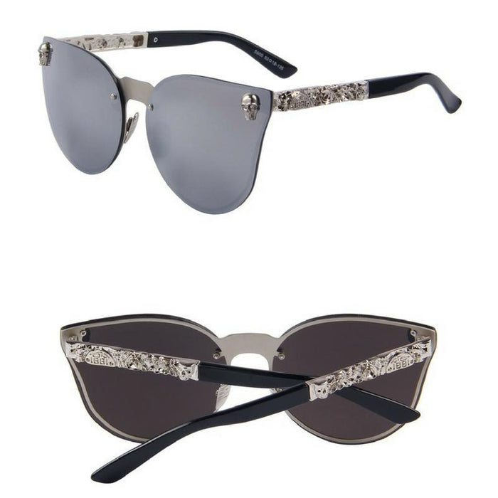 Gothic Skull Frame Sunglasses-Boots N Bags Heaven