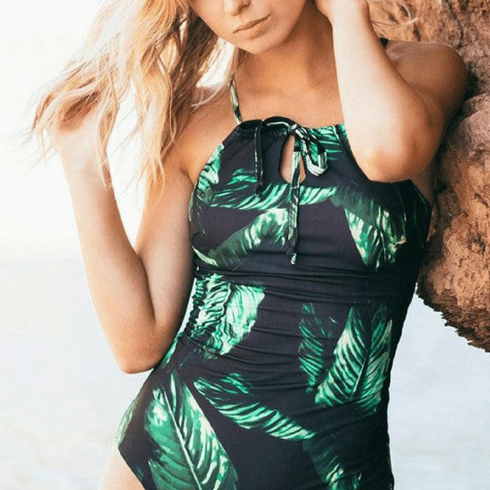 Lace-Up One Piece Swimsuit-Boots N Bags Heaven