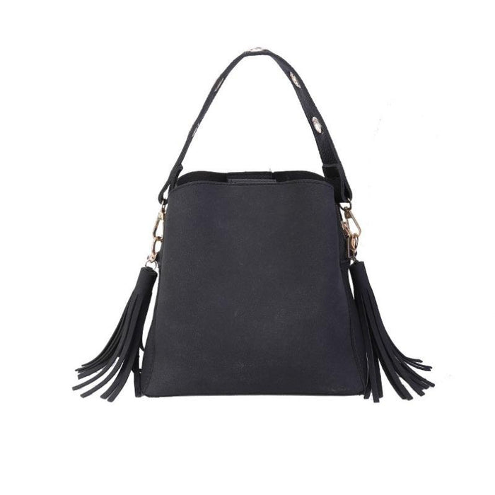 Trendy Tassel Shoulder Bag-Boots N Bags Heaven