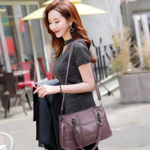 Two Way Fashion Tote Handbag - Two Way Fashion Tote Handbag