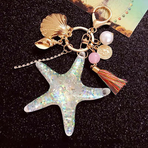 Under The Sea Marine Glitter Keychain - Under The Sea Marine Glitter Keychain
