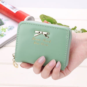Wallet - Candy Colored Short Leather Wallet