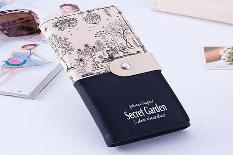 Secret Garden Design Leather Wallet-Boots N Bags Heaven