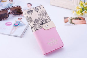 Wallet - Secret Garden Design Long Leather Wallet