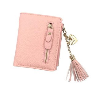Wallets - Heart Chain Leather Wallet