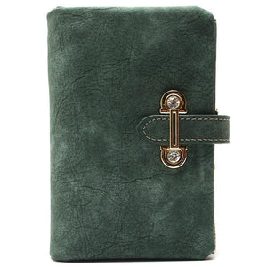 Wallets - Nubuck Leather Retro Wallet