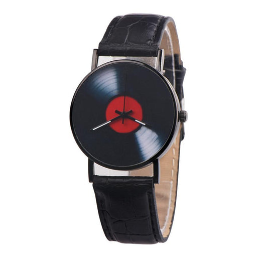 Retro Vinyl Records Analog Quartz Wristwatch-Boots N Bags Heaven