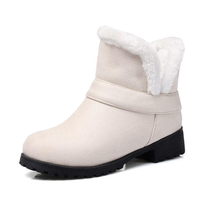 Warm and Comfortable Slip-on Winter Boots-Boots N Bags Heaven