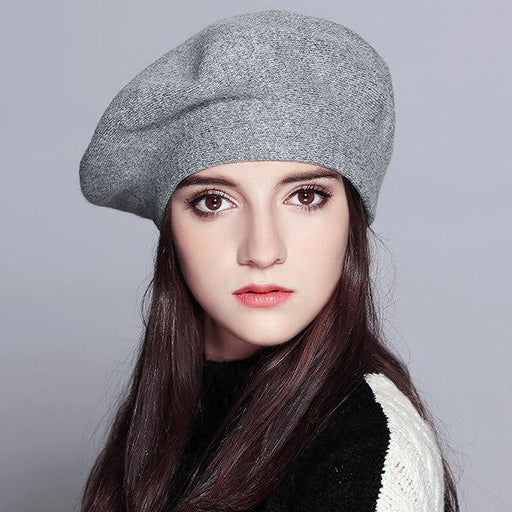Chic Solid Colored Winter Hat Beret-Boots N Bags Heaven