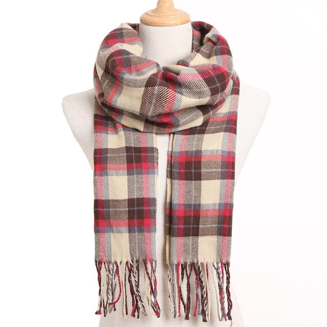 Winter Fashion 2019 Plaid And Plain Casual Winter Scarf - 2019 Plaid And Plain Casual Winter Scarf