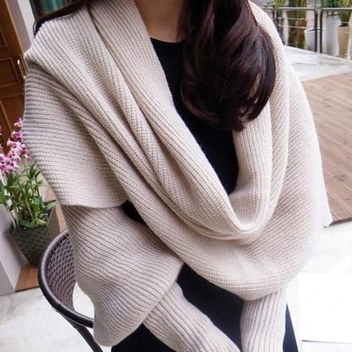 Winter Fashion Chic Winter Scarf With Sleeves - Chic Winter Scarf With Sleeves