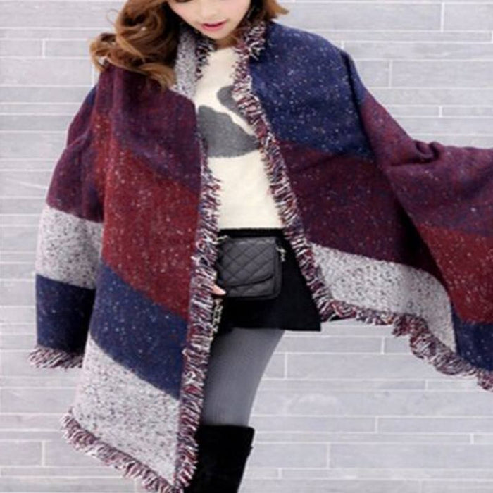 Winter Fashion Winter Large Oversize Plaid Scarf - Winter Large Oversize Plaid Scarf
