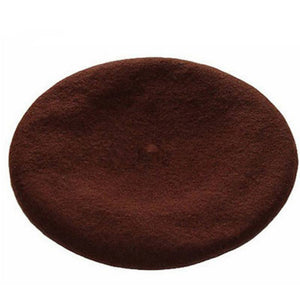 Winter Hat Winter Colorful Wool French Beret Hat - Winter Colorful Wool French Beret Hat