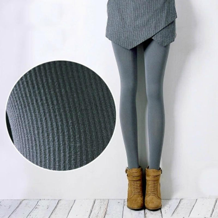 Winter Stripe Textured Tights-Boots N Bags Heaven